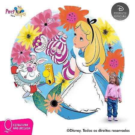 Painel Decorativo Redondo Alice no País das Maravilhas 2,10D
