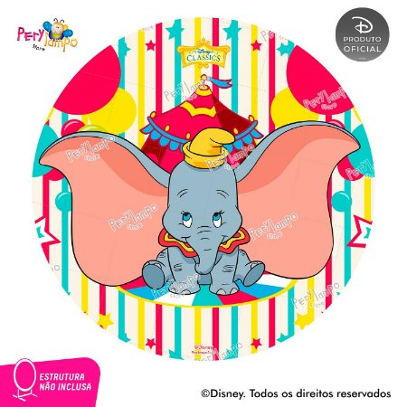 Painel festa Decorativo Redondo - Dumbo - 1,45D