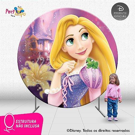 Painel Decorativo Redondo Enrolados - Rapunzel Torre - 2,10D