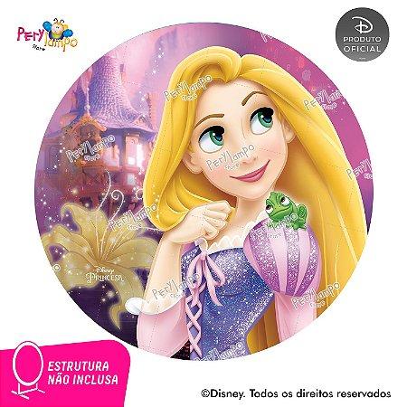 Painel Decorativo Redondo Enrolados - Rapunzel Torre - 1,45D