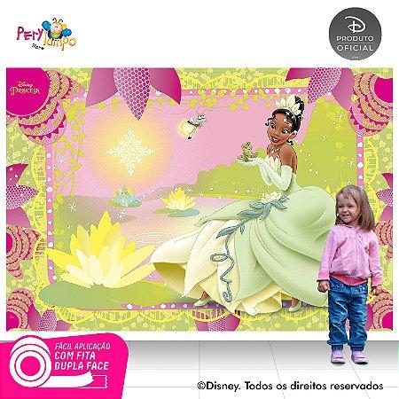 Painel festa Decorativo Princesa e o Sapo Rosa - 2,20x1,45m
