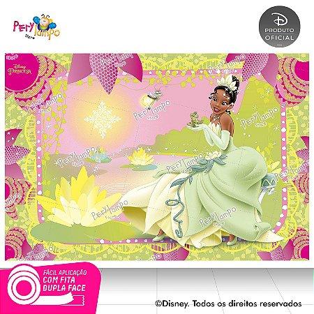 Painel festa Decorativo Princesa e o Sapo Rosa - 1,45x1,00m
