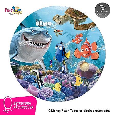 Painel de festa Decorativo Redondo - Procurando Nemo - 1,45D