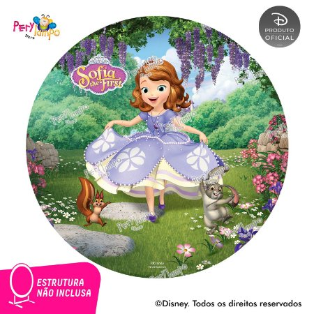Painel de festa Decorativo Redondo Princesinha Sofia - 1,45D