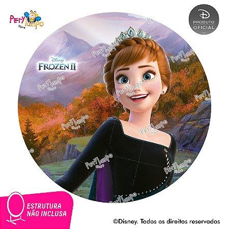 Painel Festa Decorativo Redondo Frozen 2 Anna Rainha -1,45D