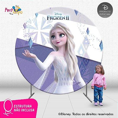 Painel Decorativo Redondo Frozen 2 - Elsa Elementos - 2,10D