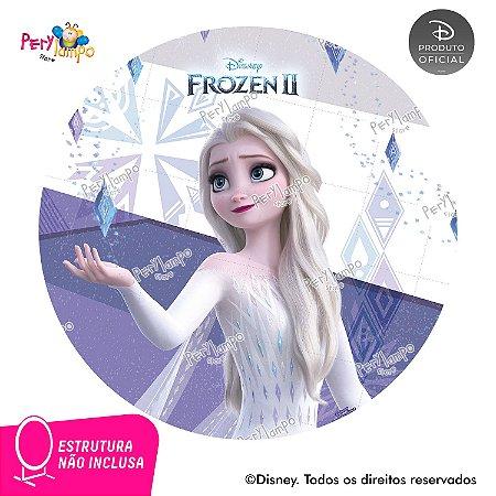 Painel Decorativo Redondo Frozen 2 - Elsa Elementos - 1,45D