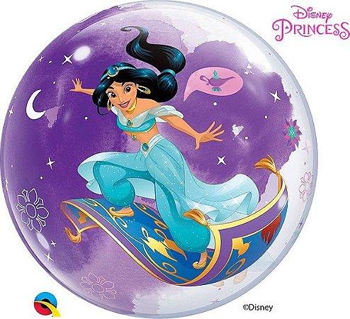 Balão Bubble Disney Aladdin Jasmine
