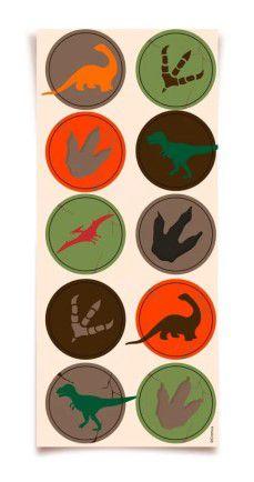 Adesivo Decorativo Redondo Dinossauros