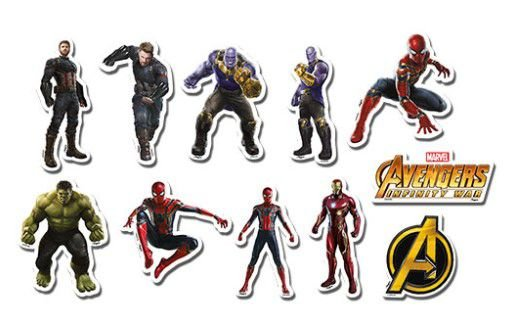 Mini Personagens Decorativo Avengers Infinity War
