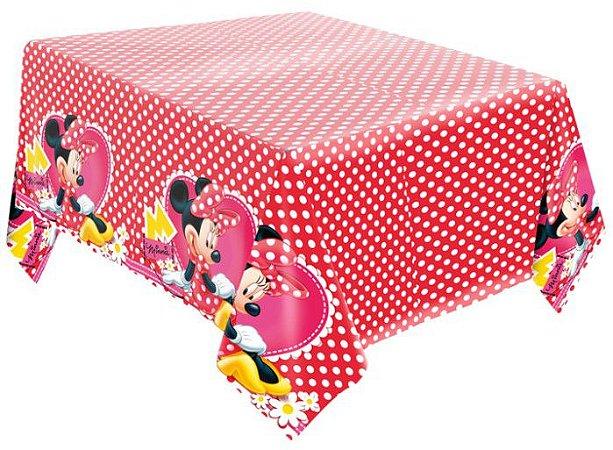 Toalha de Mesa Decorativa Minnie Vermelha - Disney