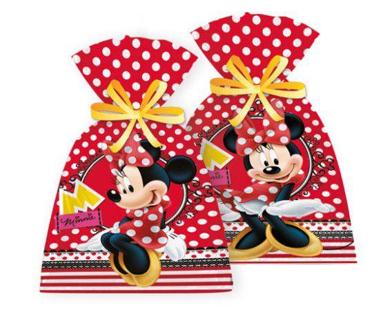 Sacola Surpresa Plástica Minnie Vermelha - Disney