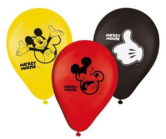 "Balões Látex 9"" Sortidos Mickey Clássico"
