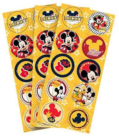 Adesivo Decorativo Redondo Mickey Clássico