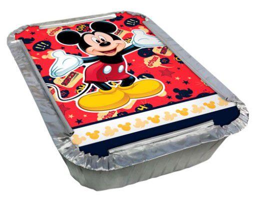 Kit Marmitinha de Alumínio com Tampa Mickey Clássico Disney