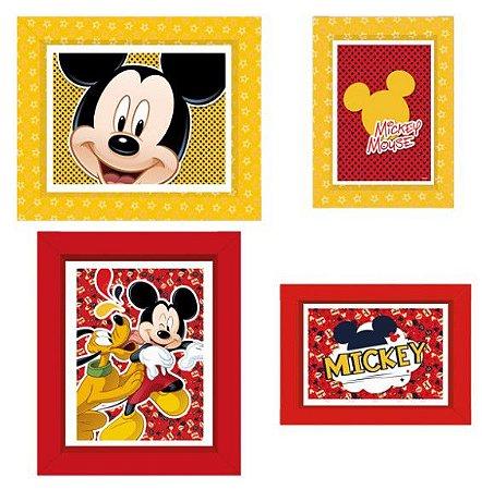 Quadrinho Decorativo Retangular Mickey Clássico - Disney