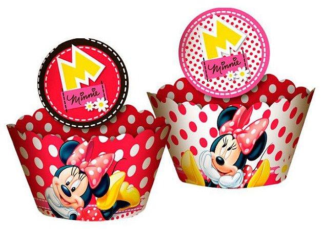 Cupcake Wrapper Com Enfeite Minnie Vermelha - Disney