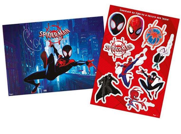 Kit Decorativo Painel Homem Aranha Spider-Man Verse