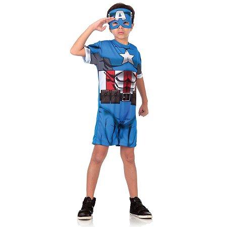 Fantasia Capitão América Curto - Marvel Vingadores