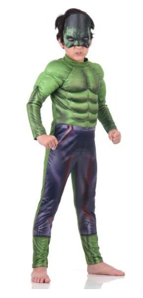 Fantasia Hulk com Peitoral Super luxo - Marvel - Avengers