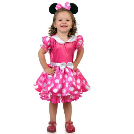 Fantasia Minnie Baby Rosa - Disney