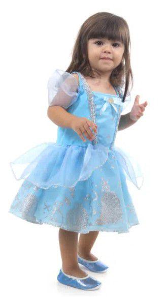 Fantasia Cinderela Bebê Luxo -  Princesas Disney