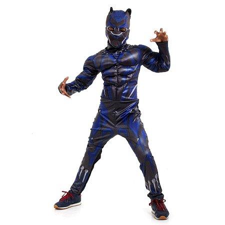Fantasia Pantera Negra Luxo - Avengers - Marvel