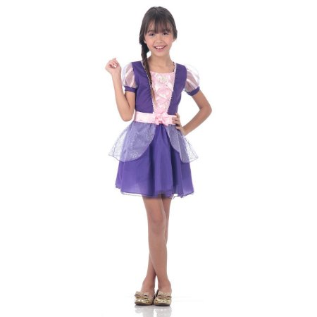 Fantasia Rapunzel Verão - Disney Princesas
