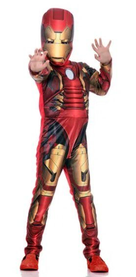 Fantasia Homem de Ferro com Peitoral Super Luxo Avengers Marvel