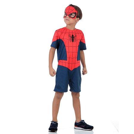Fantasia Homem Aranha Curto - Avengers Marvel