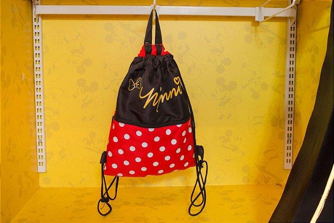 Mochila Tipo Sacola Minnie - Disney