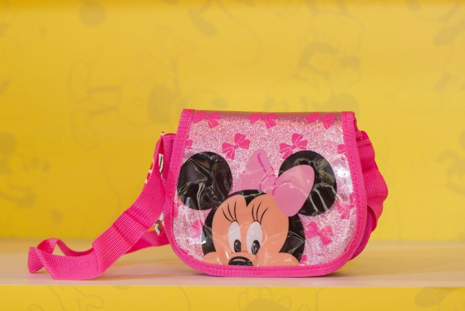 Bolsa Pequena Minnie Rosa  - 18 x 16cm - Disney