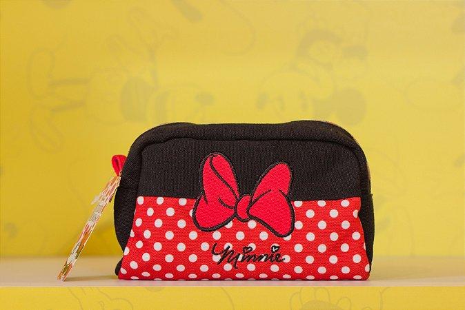 Necessaire Minnie Laço Vermelho 12X18 cm - Disney