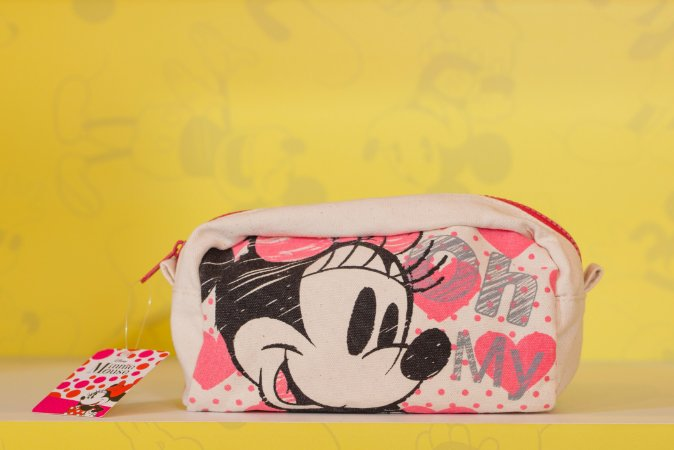 Necessaire Minnie Grafite Corações