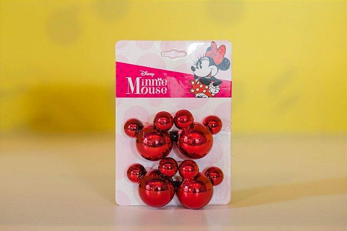 Elástico para Cabelo Mickey Vermelho com 2 unidades