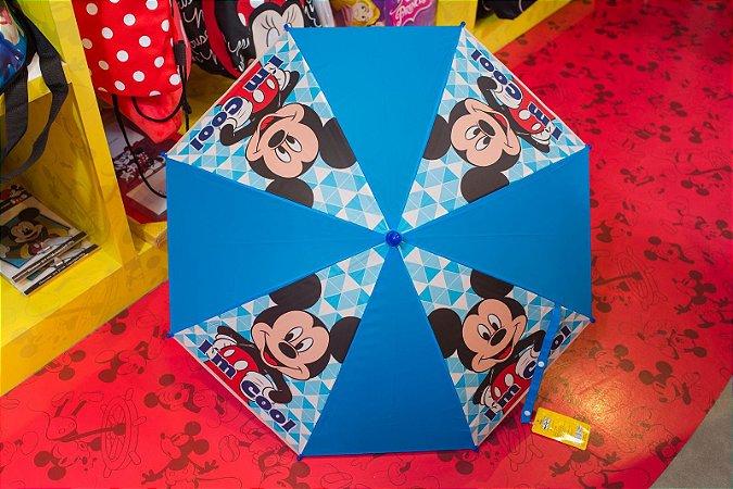 Guarda Chuva Pequeno  Azul e Branco Mickey - Mickey