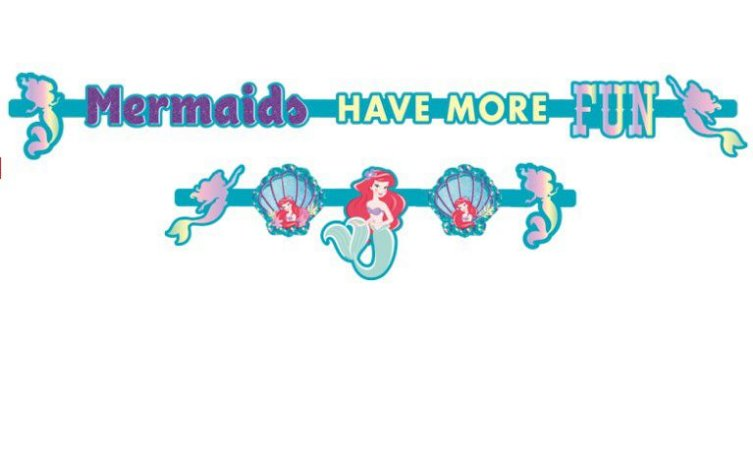 Faixa Decorativa Ariel Pequena Sereia - Disney