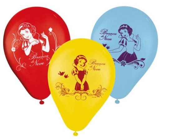 """Balão 9"""" sortidos Branca de Neve - Disney"""