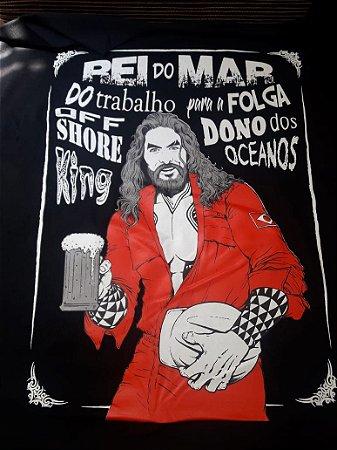 Camiseta Rei do Mar - Macacão Vermelho