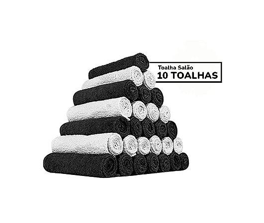 Kit 10 Toalhas De Rosto P/ Salão 50x 80cm Barbearia
