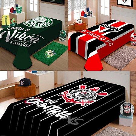 Cobertor Solteiro Raschel Antialérgico De Futebol 150x220cm