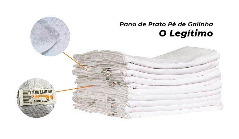 Pano de Prato Liso Pé de Galinha com Bainha - O LEGÍTIMO 41cm x 66cm