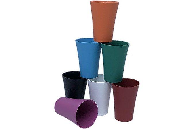 120 Copos De Plástico PP Azul 250 mL