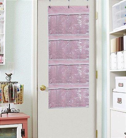 Sapateira Organizadora Infantil Porta 16 Divisórias Rosa