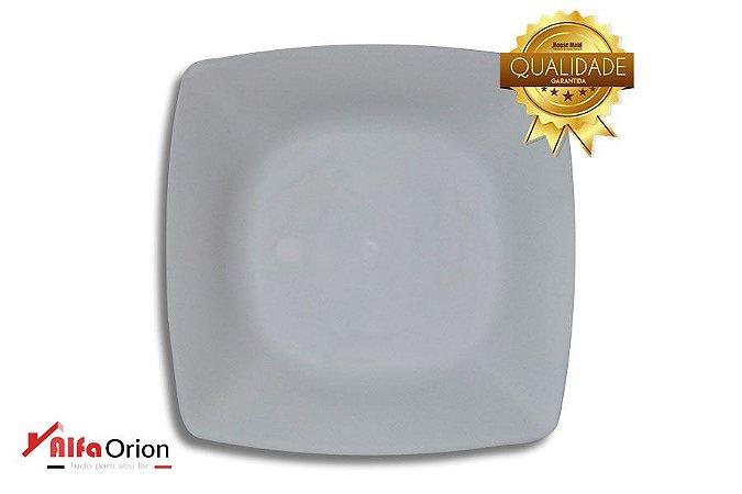 Pratos De Plástico Branco Duro 24 x 24 Cm