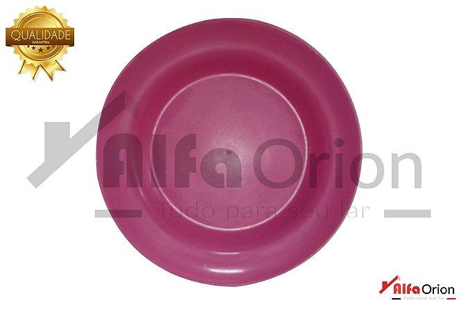 Pratos De Plástico Redondo Rosa Duro 24 Cm
