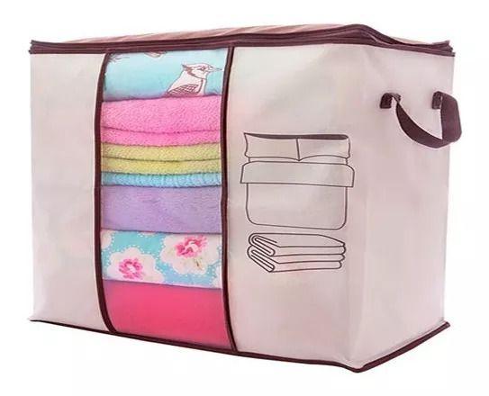 Capa Porta Edredom Organizador Cobertor Roupa Toalha