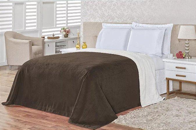 Cobertor Carneiro - Marrom Claro