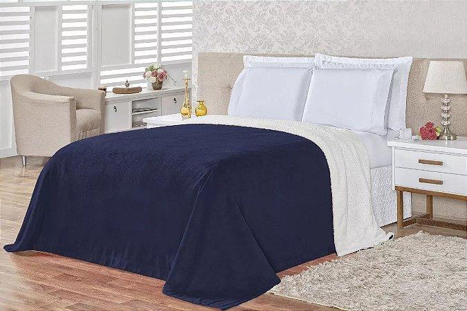 Cobertor Carneiro - Azul Marinho
