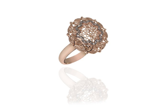 ANEL MANDALA DIAMANTE CHOCOLATE